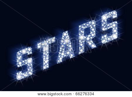 STARS Twinkling Lettering Made Of Stars