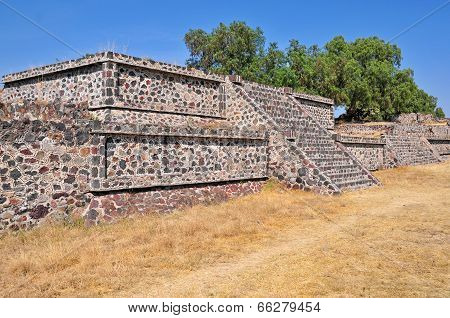 Platform along the Avenue of the Dead, Teotihuacan, Mexico