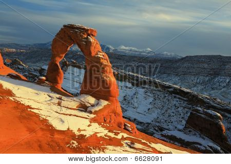 Snow Covered Delicate Arch
