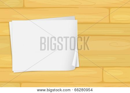 Illustration of a wooden floor with empty bondpapers