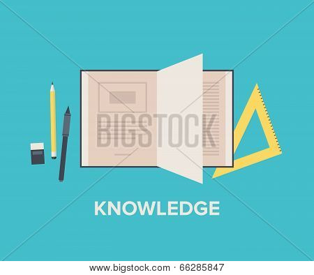 Knowledge Concept Flat Illustration