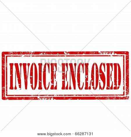 Invoice Enclosed-stamp
