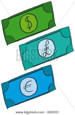 Cartoon-Geld