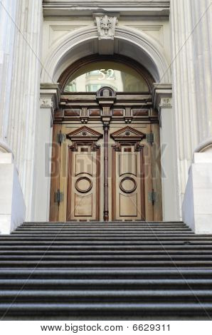 Entrance door from the City Hall in New York City