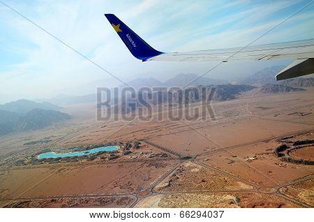 Egypt, The Desert. Takeoff From Sharm El-sheikh