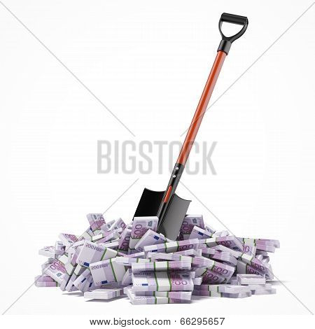 Shovel up euro bills