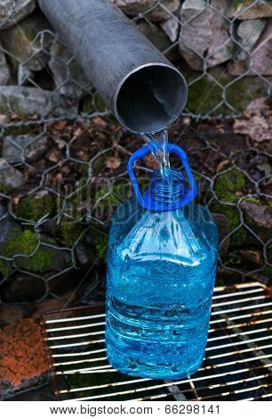 Filling Of A Plastic Bottle In Source