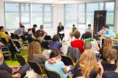 image of audience  - Round table discussion at Business convention and Presentation - JPG