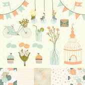 foto of mojito  - Set for wedding design. Save the date. 