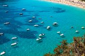 Постер, плакат: Ibiza Cala De Sant Vicent Caleta De San Vicente Beach Turquoise Water
