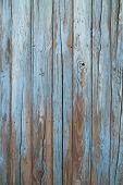 image of driftwood fence  - old blue wood wall texture and background - JPG