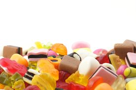 image of gummy bear  - candy sweets showing unhealthy food concept with blank and empty space for your text - JPG