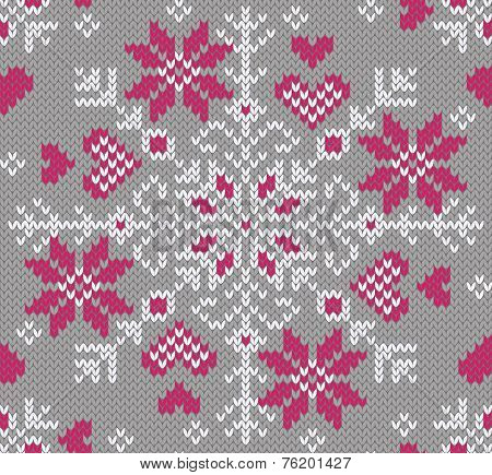 Knitted northern pattern