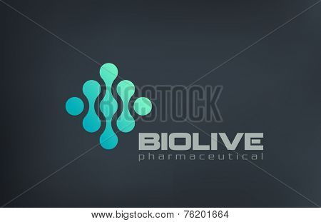 Biotechnology Molecule Atom DNA Chip Logo design vector template. Use for Medicine, Science, Technology, Laboratory, Electronics Logotype icon.