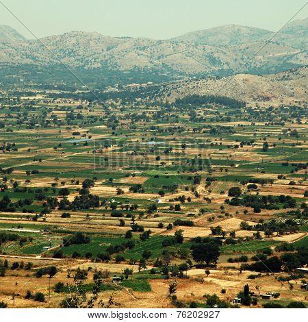 Fields Of Lassithi Plateau(?rete, Greece)