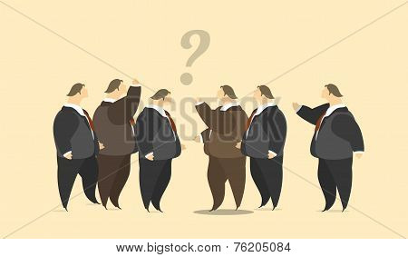 Group Of Businessmen Meeting