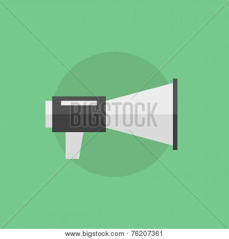 Loudspeaker Flat Icon Illustration