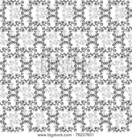 Black and white seamless damask pattern. Vector background for wrap, textile and package design