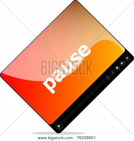 Pause On Media Player Interface
