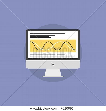 Data Processing Flat Icon Illustration