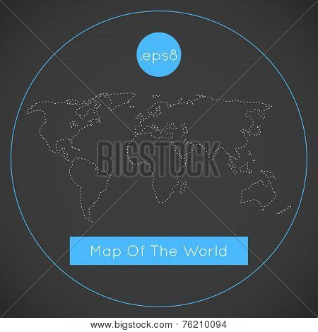 Mono blue background illustration of Earth.