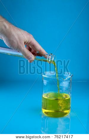Pouring Into A Beaker