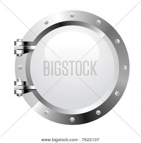 Vector realistic metalic porthole