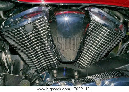 Motorbike Cylinder Engine