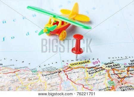 Santander  ,spain Map Airport