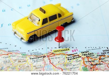Santander  ,spain Map Taxi