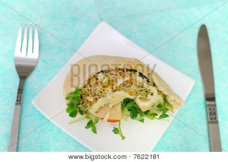 Salad Sandwich On Plate