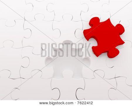 Puzzlespiel über white Background.