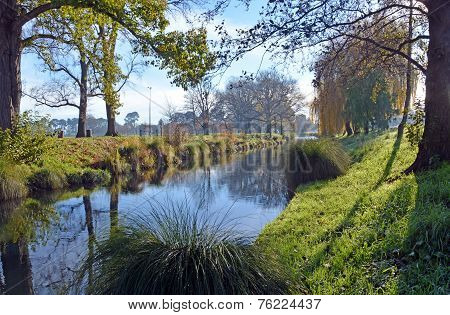 River Avon & Hagley Park In Winter, Christchurch
