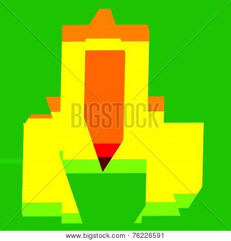 Abstract technology background. For design artworks. Rendered illustration isolated on green.