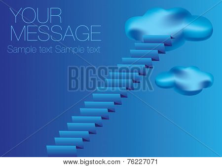 Staircase To Sky Vector Illustration