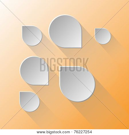 Design Speech Bubbles On Light Orange Background