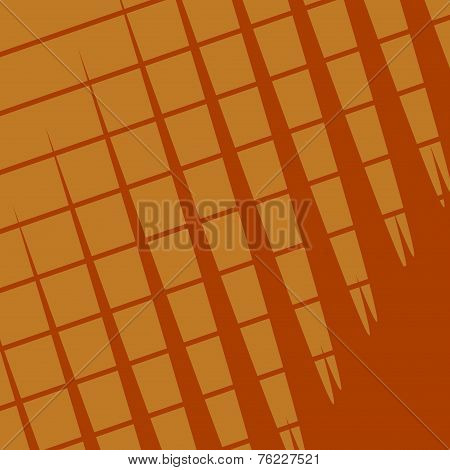 Paper Texture Background With Copy Space - Brown Plaid Pattern - Abstract For Website Banner - Retro