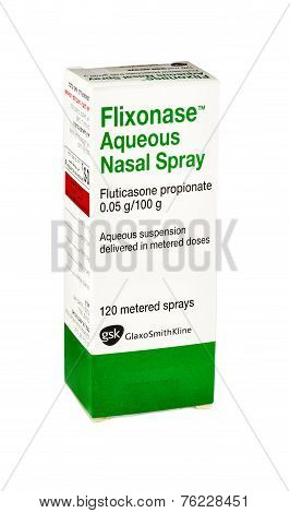 Carton Box Of Flixonase Aqueous Nasal Spray