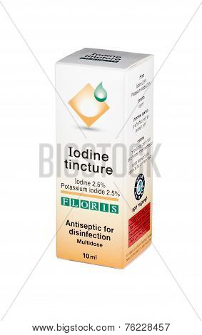 Carton Box Of Iodine Tincture