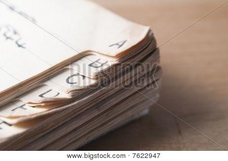 Old Index Book