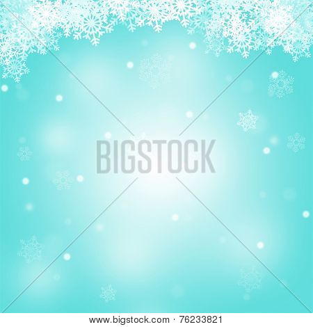 Abstract Merry Christmas Blue Background