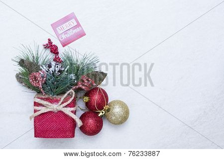 Christmas Arrangement With Message