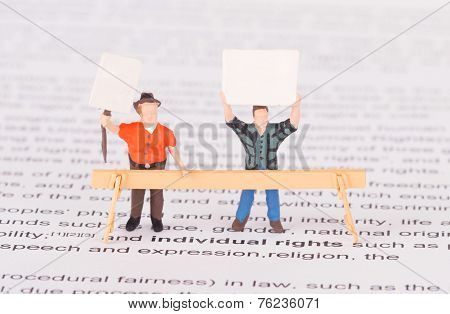 Tiny Persons Demonstrating For Their Rights