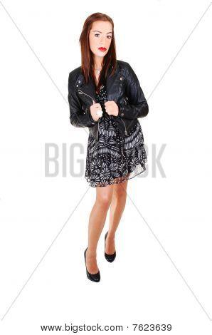 Girl With Black Jacket.
