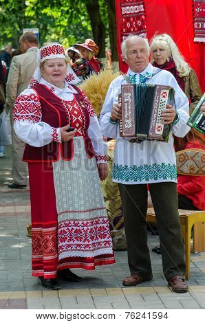Speech Of Amateur Ensemble In National Belarusian Costumes