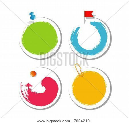 Colorful blob design stickers