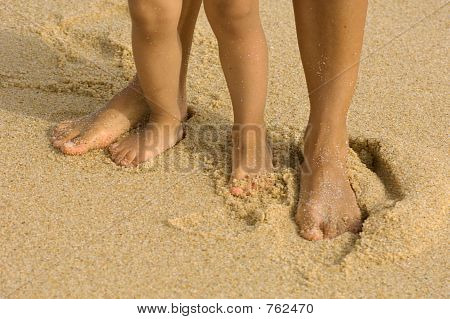 Füße auf dem sand