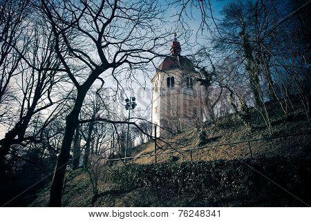 View Of Glockenturm Tower On Schlossberg Hill, Graz