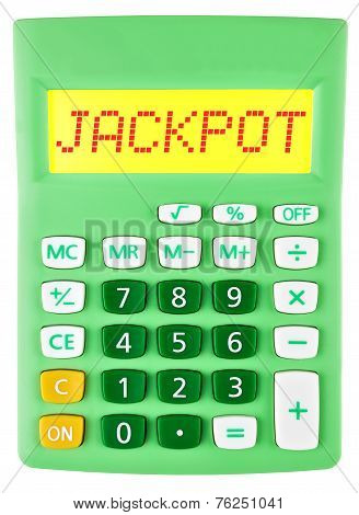 Calculator With Jackpot On Display