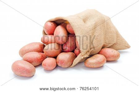 Red Potatoes In Sack